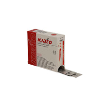 Load image into Gallery viewer, KIATO No.11P STERILE SWISS Carbon Steel Triangular Straight Cutting Edge Ultra Thin Sharp Surgical Scalpel Blades Individually Wrapped in Foils High Quality Disposable 100-count Box Long Expiry Date