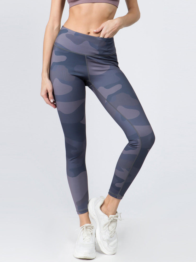 Athletic Leggings // Blue Camo