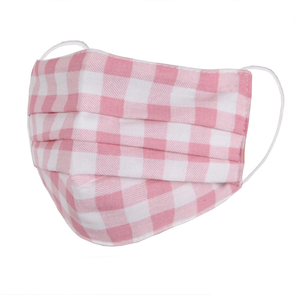 Child Mask // Pink Gingham