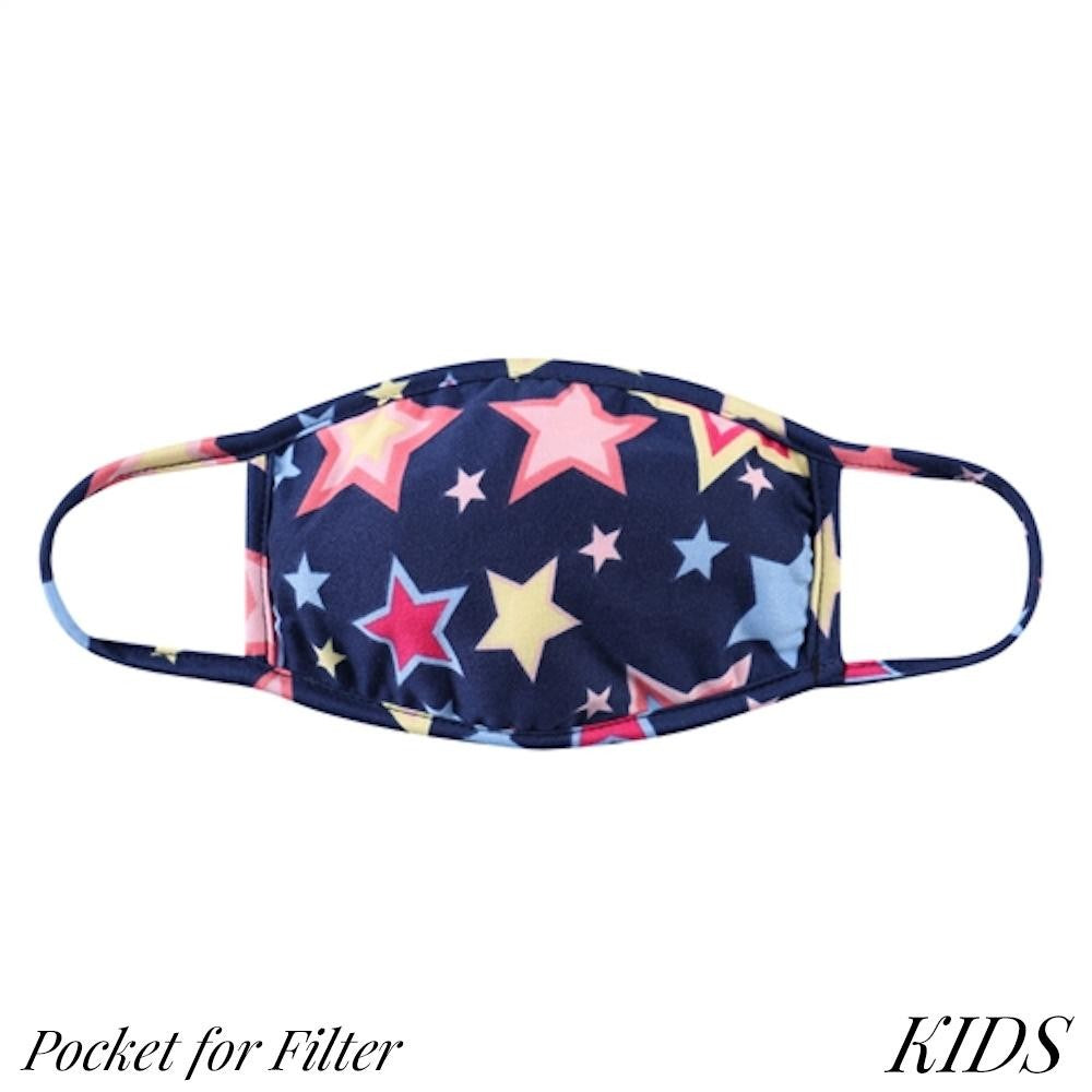 Child Mask // Navy Stars