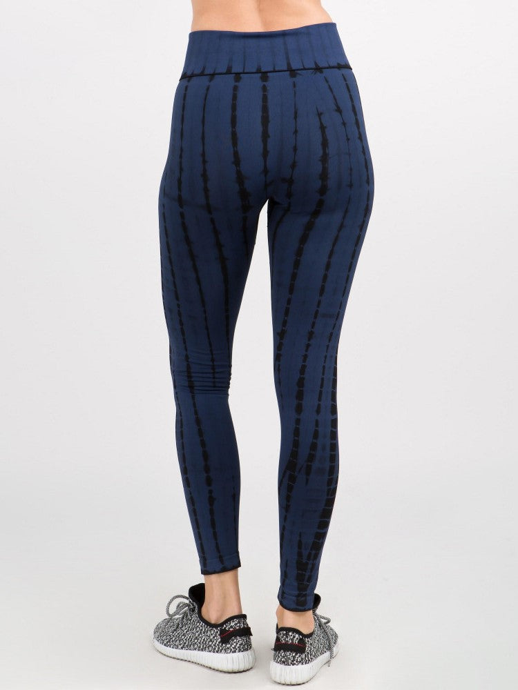 Athletic Leggings // Navy + Black Tie-Dye