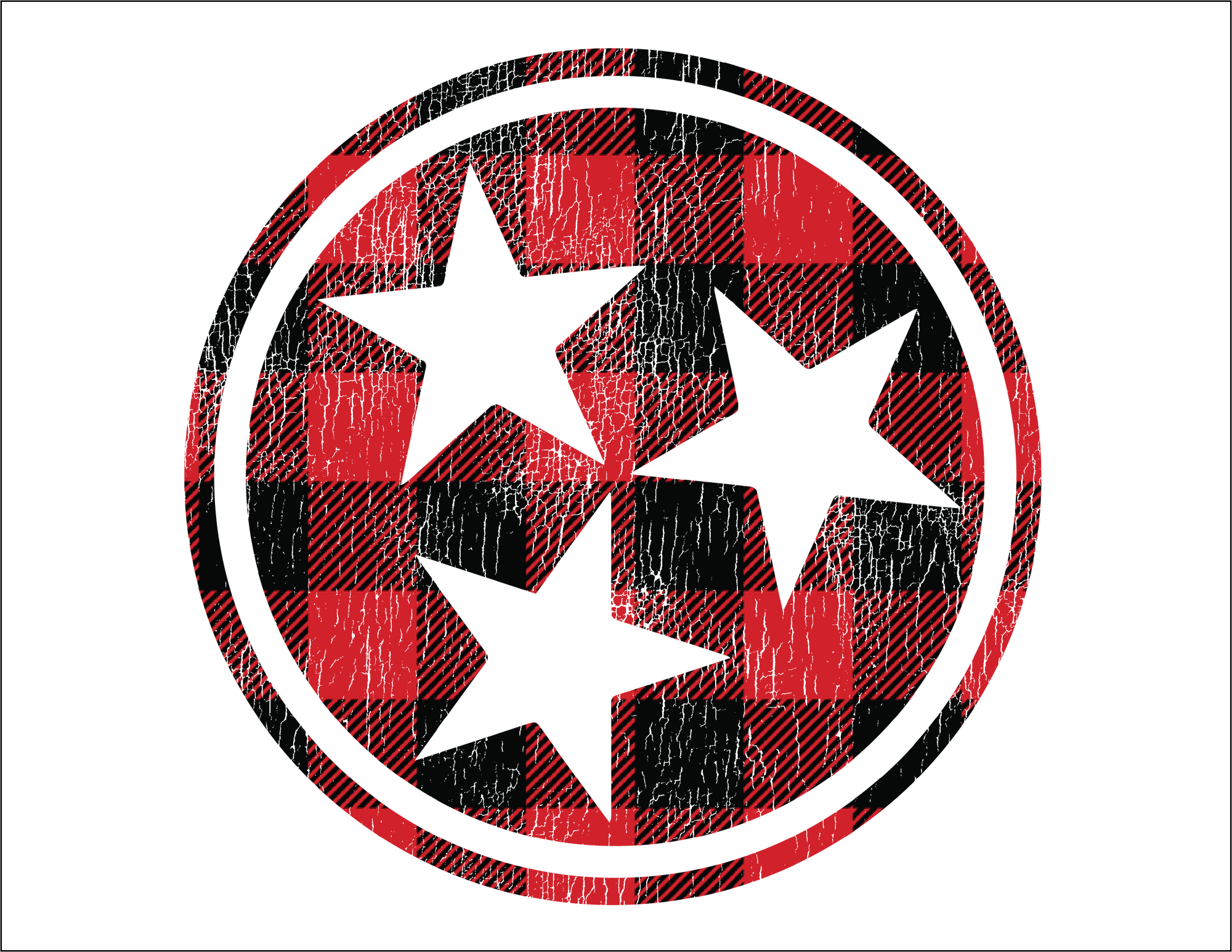 Tennessee Tri-Star (Buffalo Plaid)
