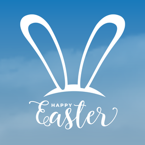'Happy Easter Bunny Ears' Window Sticker
