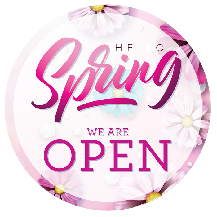 Spring (Pink) Open Roundel Sticker
