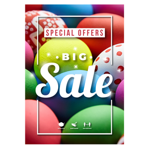 Easter Eggs Sale Poster