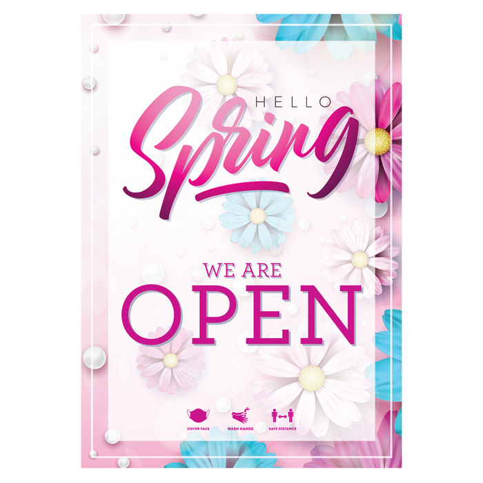Spring (Pink) Open Poster