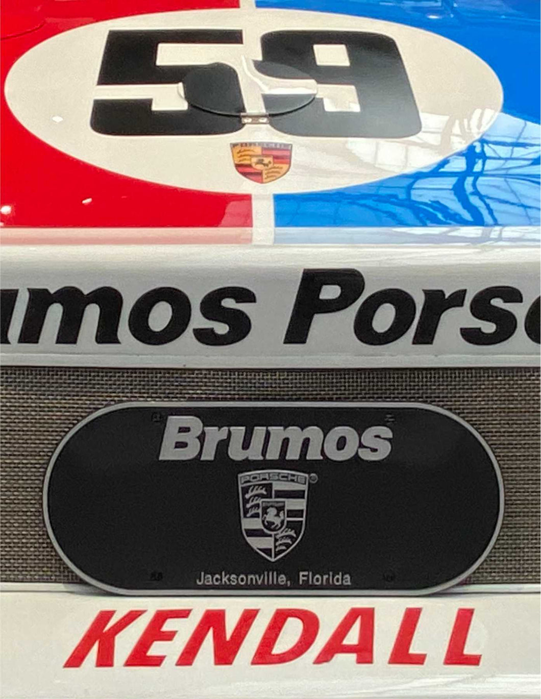 Brumos Front Licence Plate
