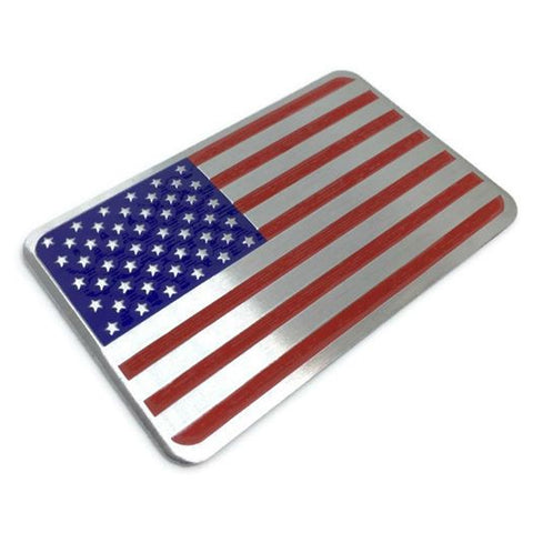 USA Flag Metal Badge