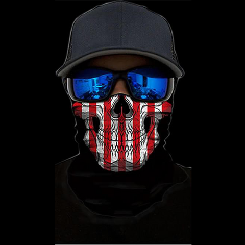 American Flag Skull Face Shield - ApeSurvival