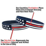 Thin Red Line USA Wristband - ApeSurvival