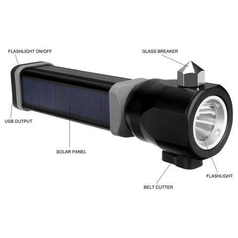 Survival Solar Flashlight - ApeSurvival