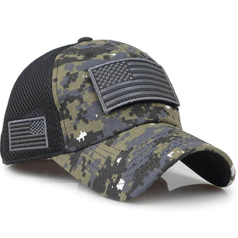 Tactical Camo USA Cap