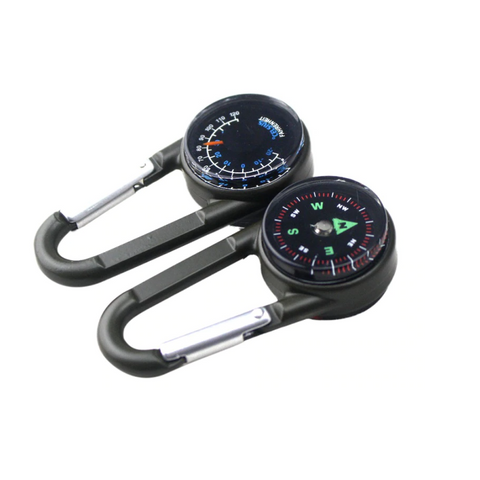 Thermometer Compass Carabiner - ApeSurvival