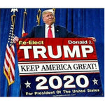 Re-Elect President Trump 2020 Flag - ApeSurvival