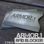Armor.1™ RFID Blockers (5 Pack) - ApeSurvival