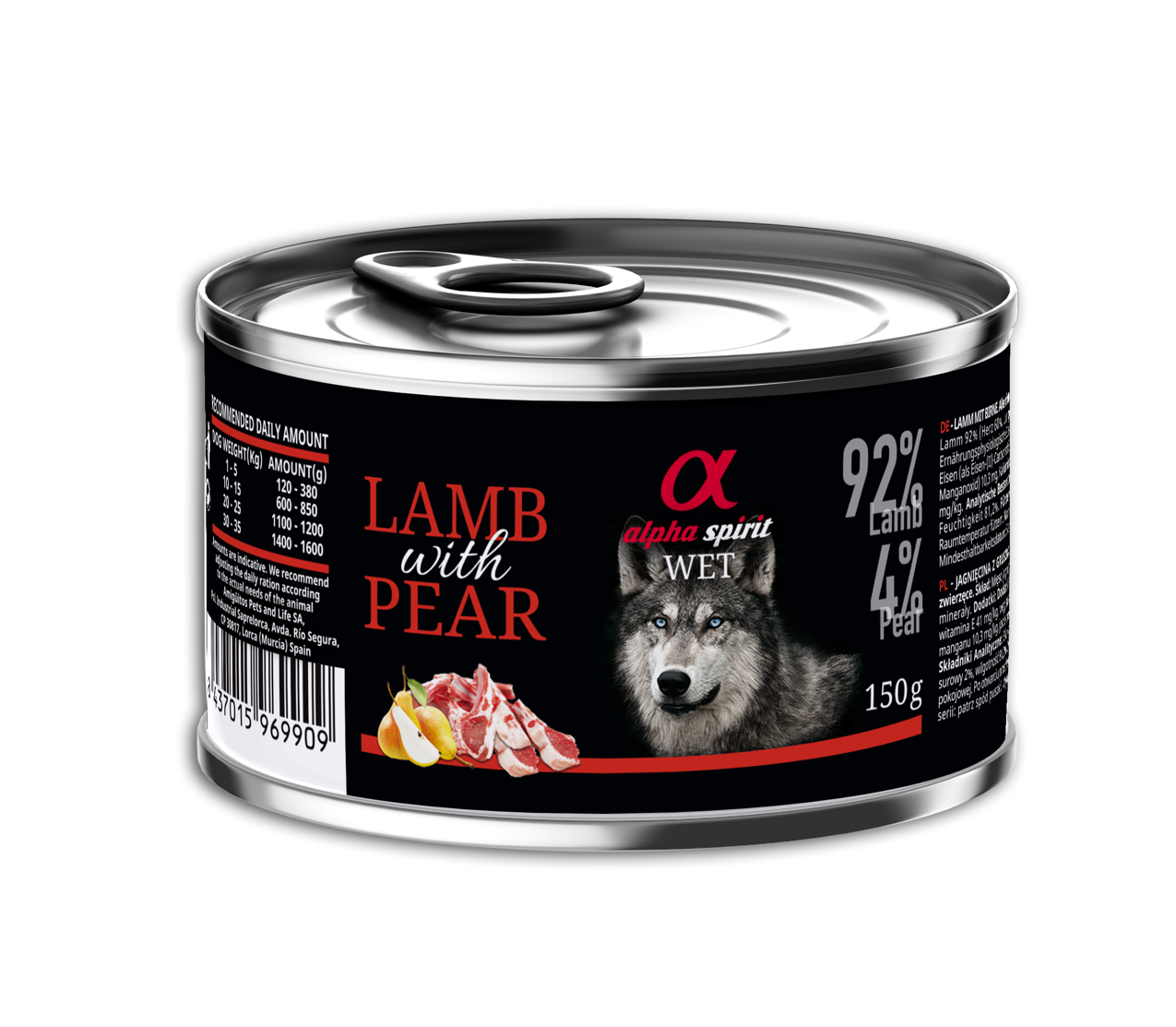 WET FOOD OF LAMB WITH PEAR