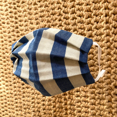 Fabric Face Mask - Blue & White Stripe