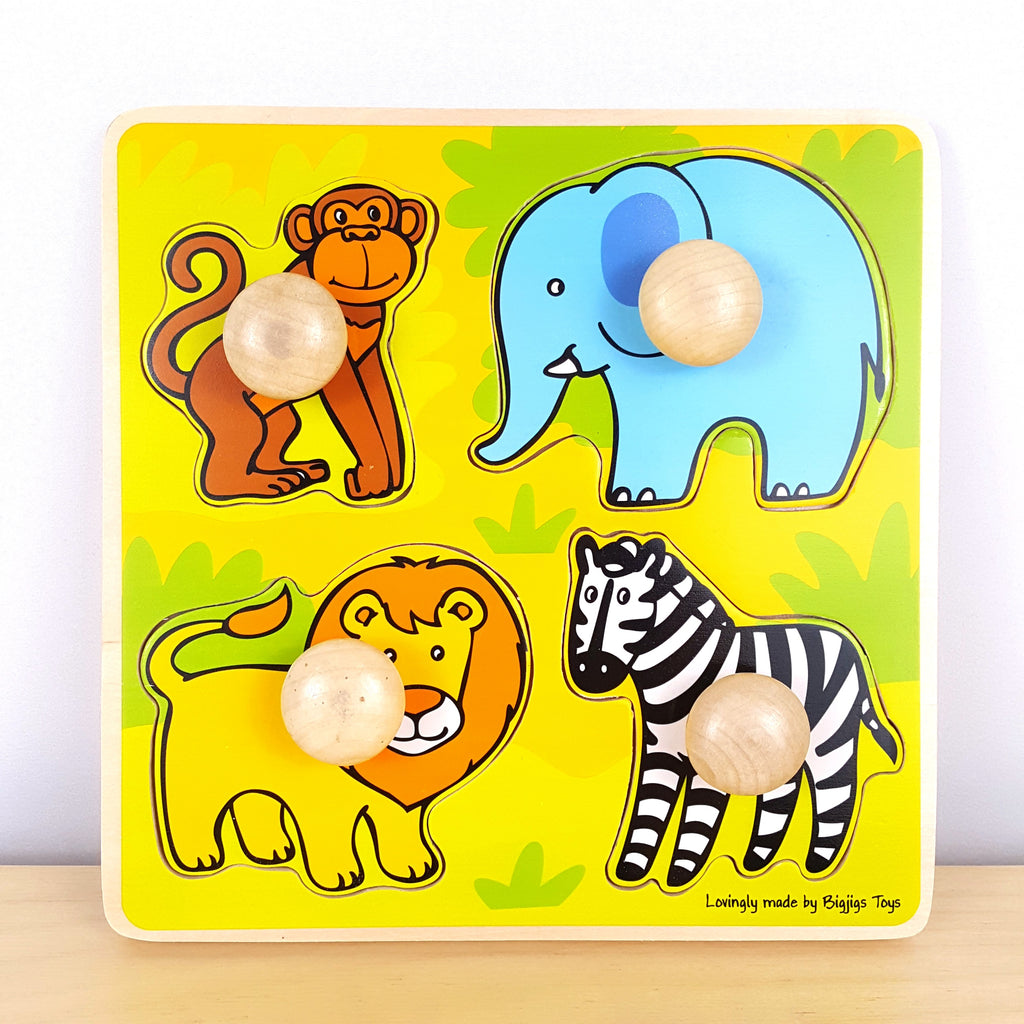 African Animals Food Matching Puzzle