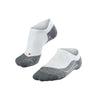 RU 4 Invisible Running Socks - White