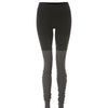 High Waisted Goddess Legging - Black/Stormy Heather