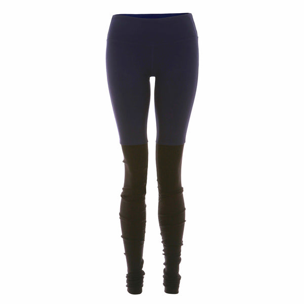 High Waisted Goddess Legging - Rich Navy/Black