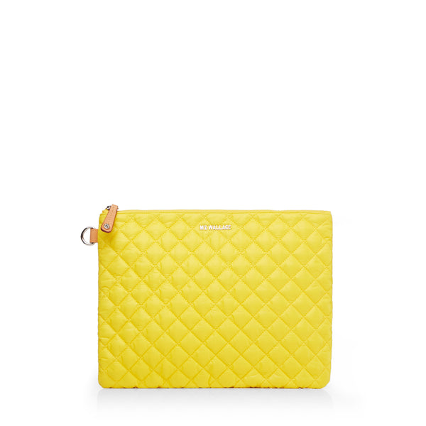 MZ Wallace | Metro Pouch | Daffodil Oxford | Pouch | Cosmetic bag | Beach bag | Wash bag