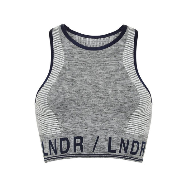 LNDR | Aero Sports Bra | Grey Marl | Sports Bra | Compression | Crop Top | Activewear | British Brand