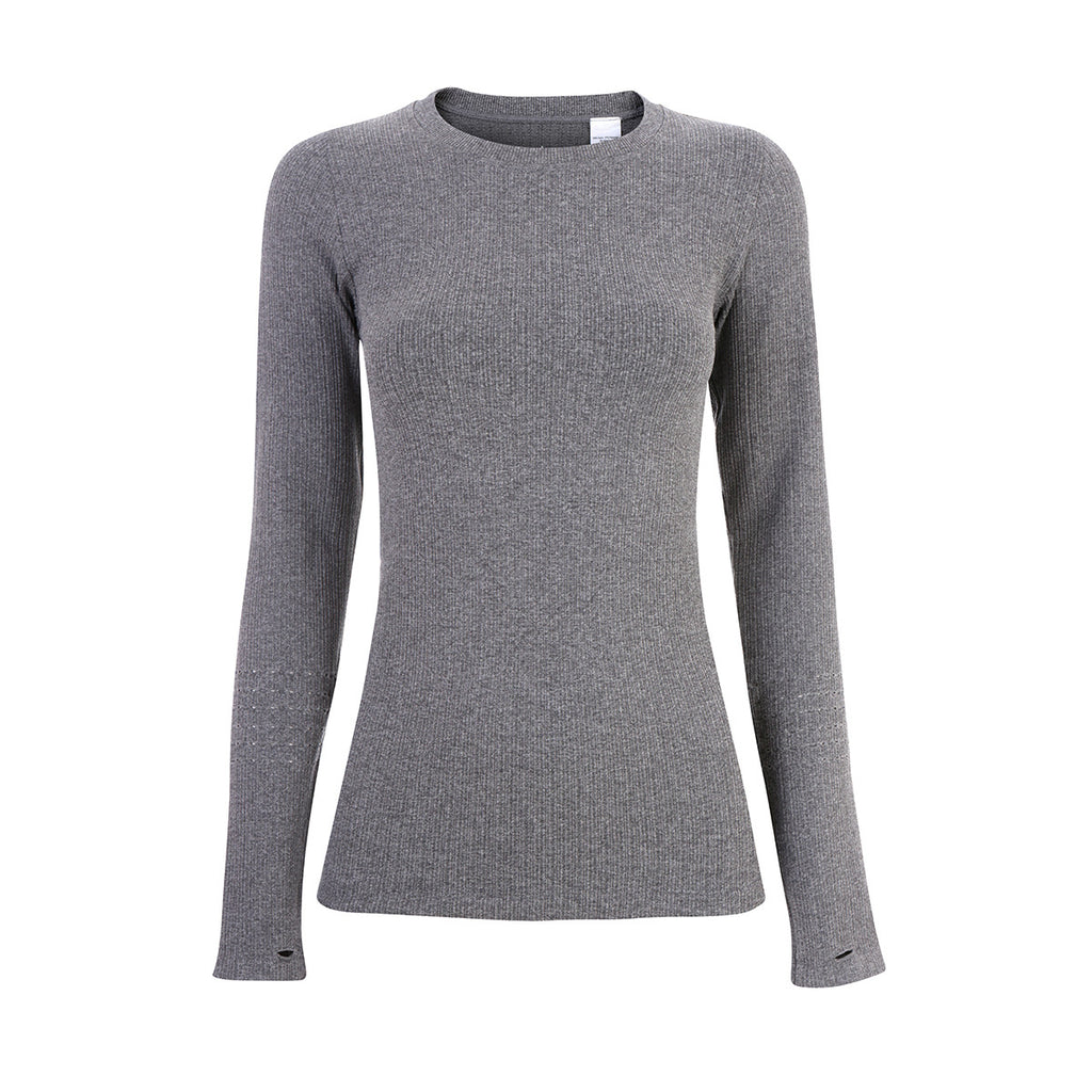 Exhale Long Sleeve Top - Charcoal