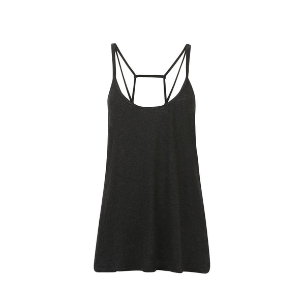 Cross Back Vest - Black