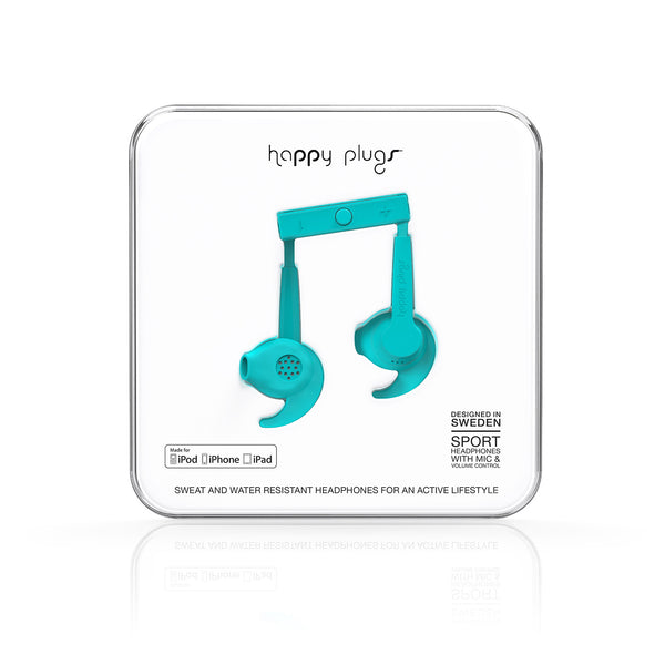 Happy Plugs Sport MFI - Turquoise