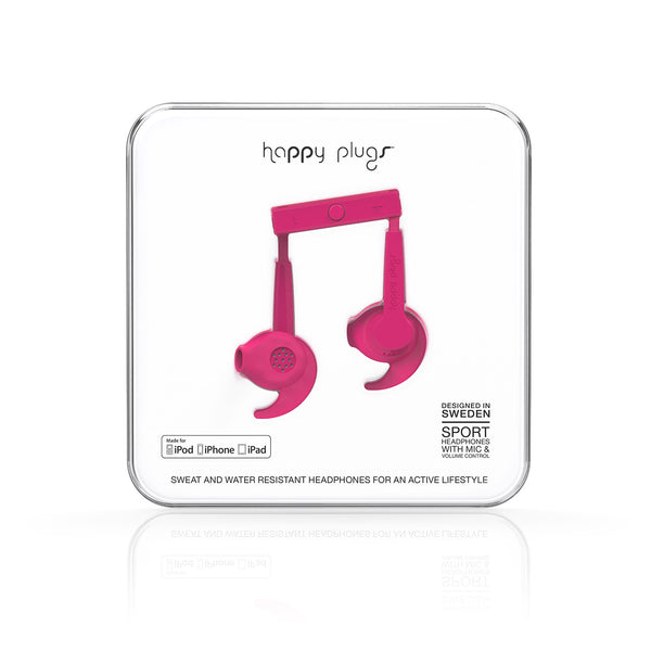 Happy Plugs Sport MFI - Cerise