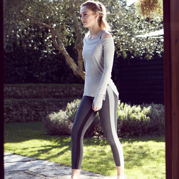 Splits59 | Home Run 7/8 Leggings | Grey | Leggings | Activewear | Gym | Run | Stripe