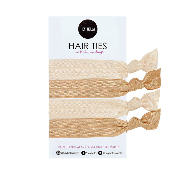 No Kinky Stuff! Hair Ties - Blonde Basics