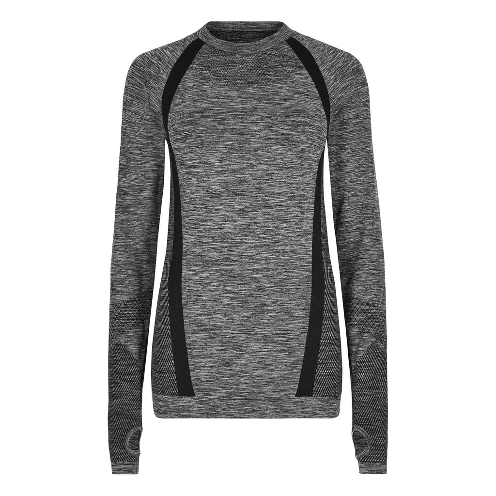 Breeze Long Sleeve Top - Charcoal Marl