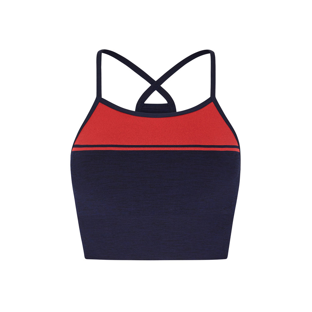LNDR | Yoga Sports Bra | Navy Marl ACTIVEWEAR | yoga