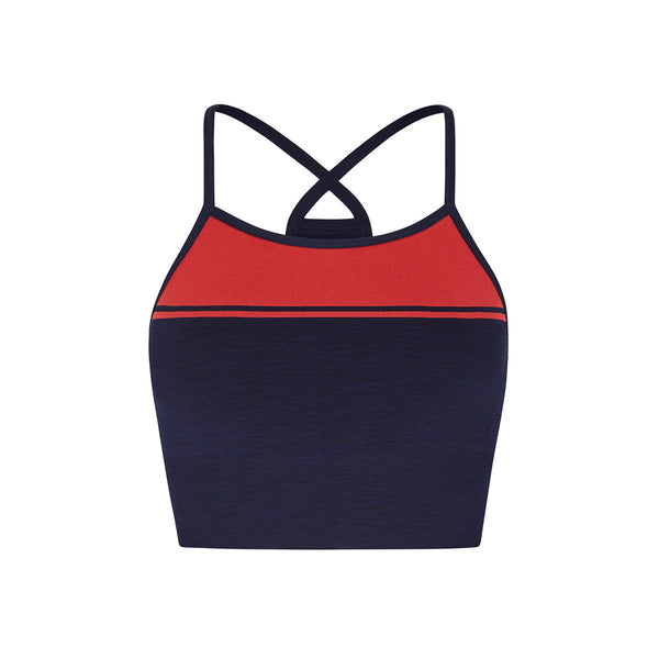 Yoga Sports Bra - Navy Marl