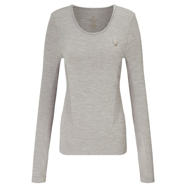 Technical Knit Long Sleeve Top - Grey
