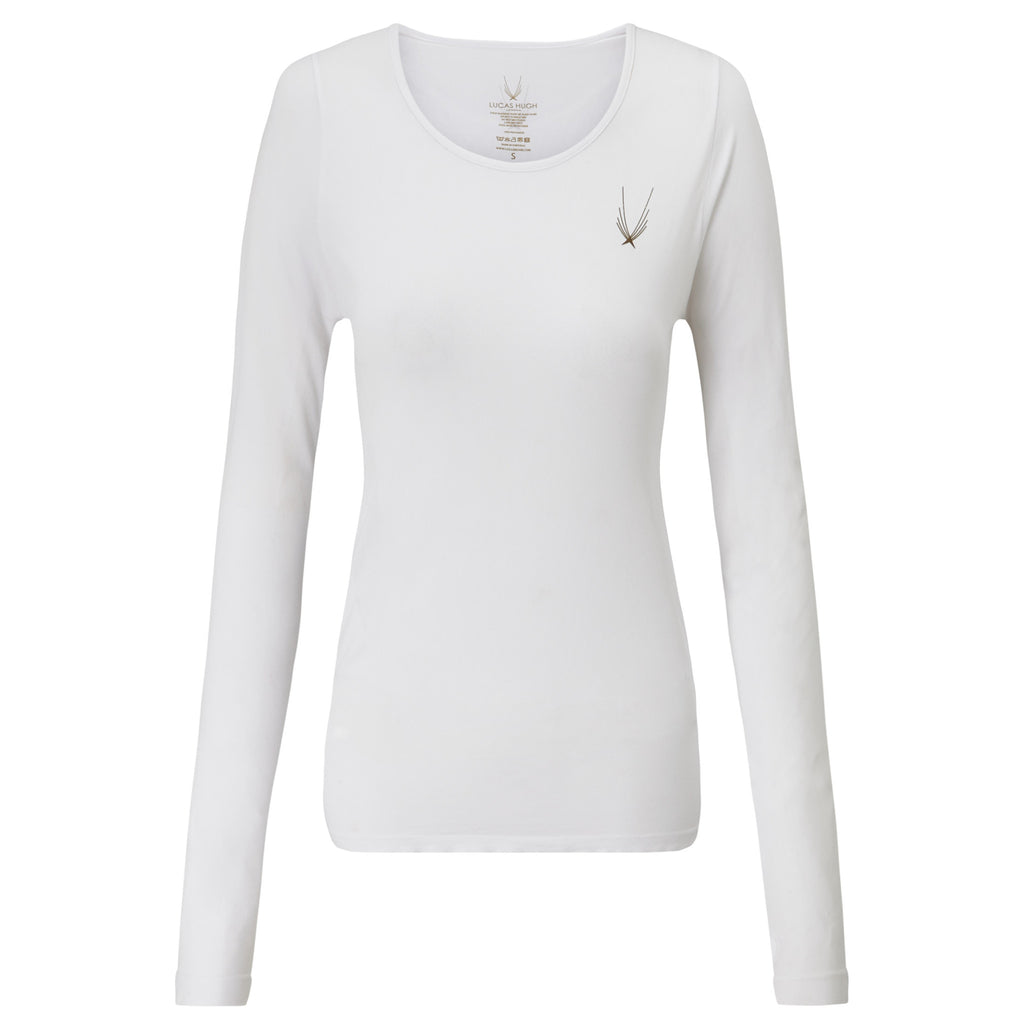Technical Knit Long Sleeve Top - White