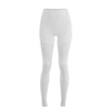 High-Waist Moto Leggings - White