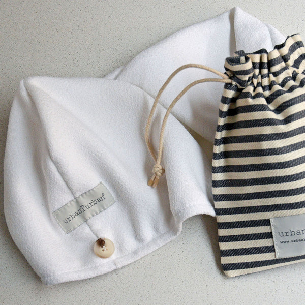 Urban Turban | White | Towel | hair towel | Gym towel | Beach Towel