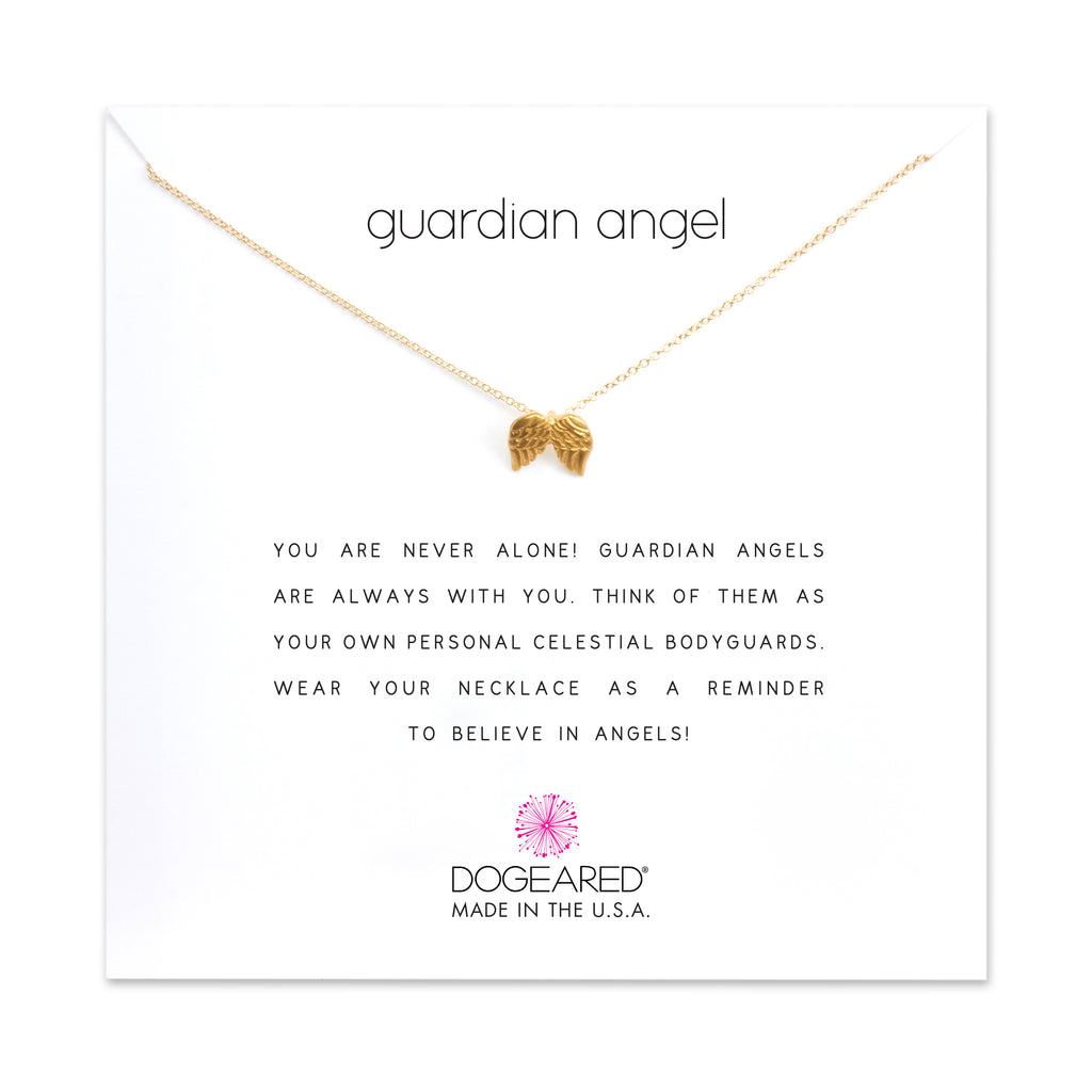 Guardian Angel Charm Necklace | Gold Dipped | Dogeared | Gold necklace | yoga