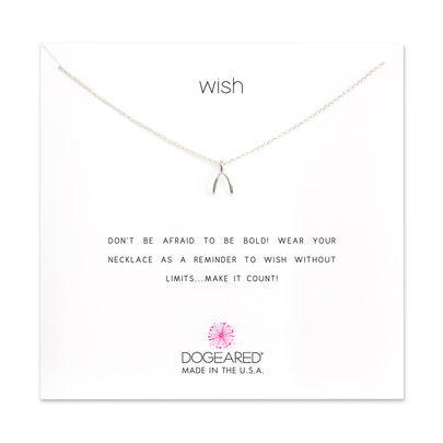 Teeny Wishbone Reminder Necklace | Sterling Silver