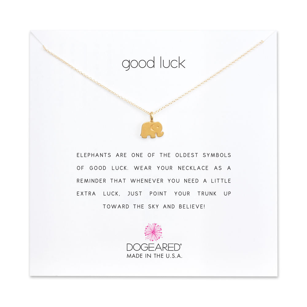 Dogeared | Good Luck Elephant Necklace | Gold | Necklace |