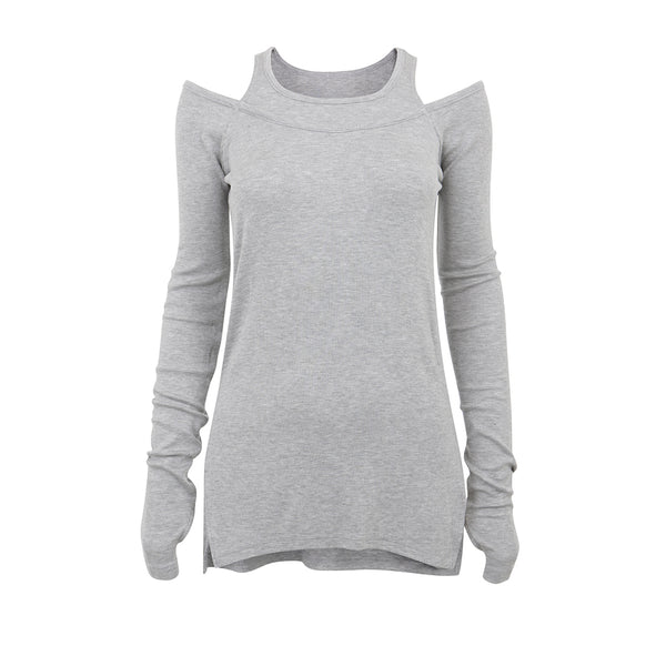 Splits59 | Alley Long-Sleeve Tee | Light Heather Grey | Long Sleeve | Activewear