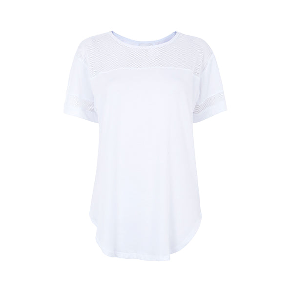 Seafolly | Mesh Insert Tee | White | Activewear | Beach | Workout