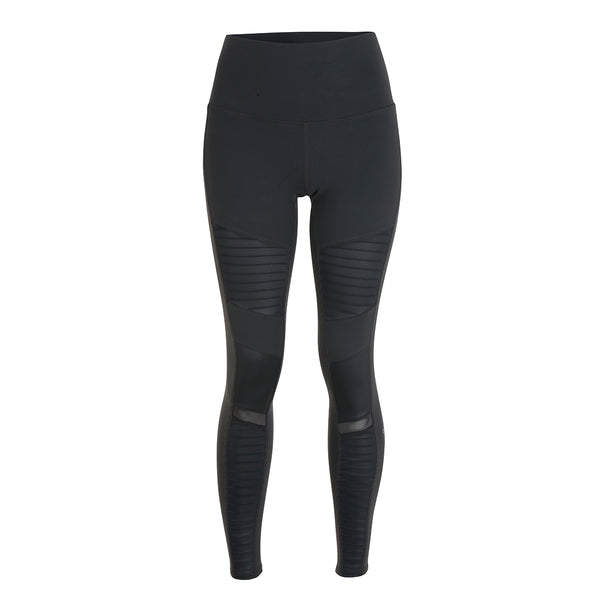 High-Waist Moto Leggings - Anthracite