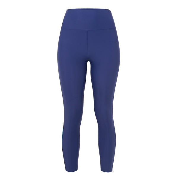 LANSTON | Caleb Contrast Curve Legging | Blue | Activewear | Workout | Yoga | Stripe | Gym |