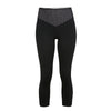 Mateo Mesh 3/4 Length Leggings - Jet