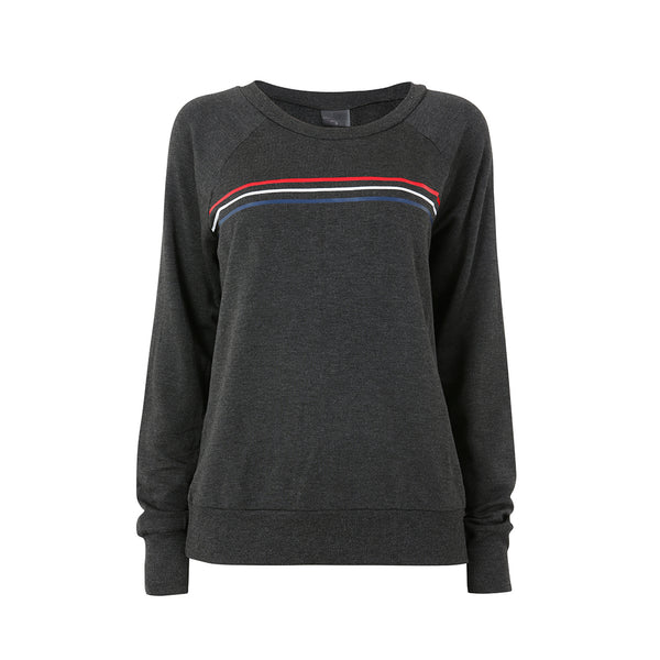 Edge Pullover - Grey/Multi Stripes