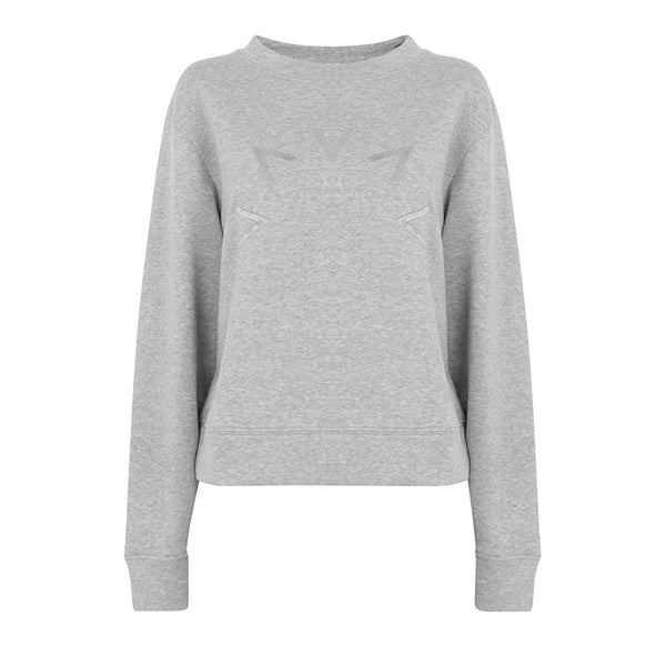 Varley | Knoll Sweatshirt | Grey Melange | Leisurewear | Loungewear | sweatshirt | Grey | Activewear | Long Sleeve